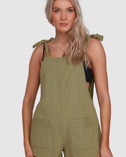 4 Girl On The Run Playsuit Green 6591153 Billabong