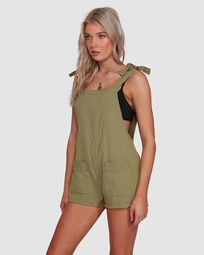 2 Girl On The Run Playsuit Green 6591153 Billabong