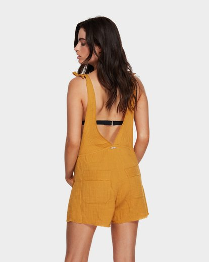 3 GIRL ON THE RUN PLAYSUIT Yellow 6591153 Billabong