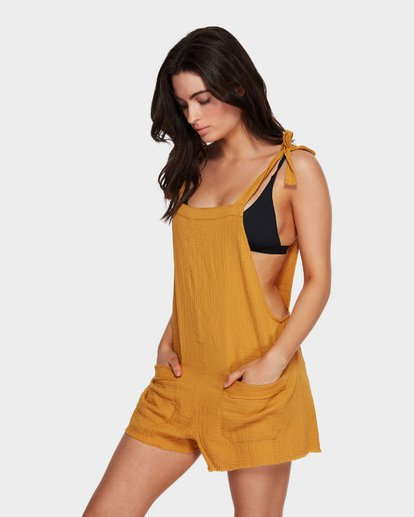 2 GIRL ON THE RUN PLAYSUIT Yellow 6591153 Billabong