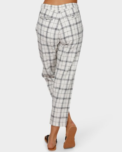 5 Willow Check Pant White 6591408 Billabong