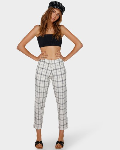 0 WILLOW CHECK PANT White 6591408 Billabong