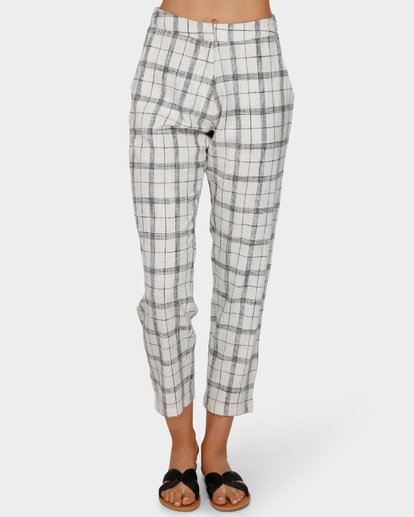 4 WILLOW CHECK PANT White 6591408 Billabong