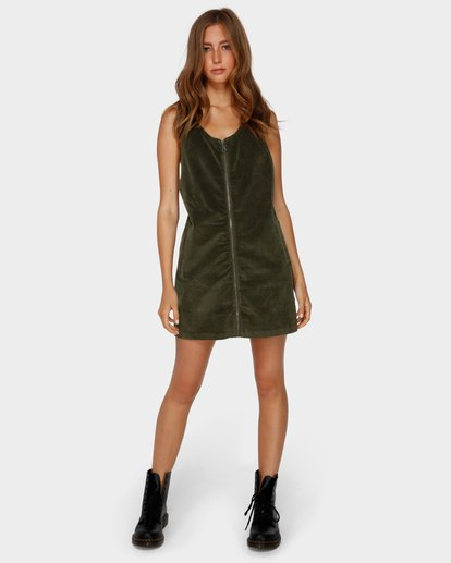 4 MANNIX CORD DRESS Green 6591475 Billabong