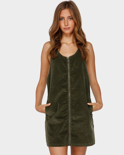 1 MANNIX CORD DRESS Green 6591475 Billabong