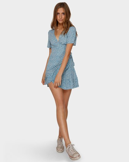 4 FLORIDA WRAP DRESS Blue 6591477 Billabong
