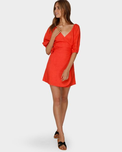 4 DEL RAY WRAP DRESS Orange 6591479 Billabong