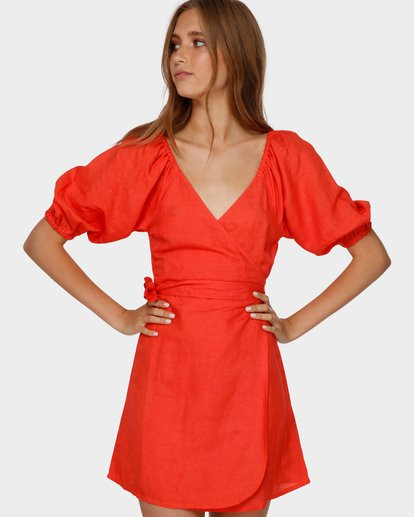 1 DEL RAY WRAP DRESS Orange 6591479 Billabong