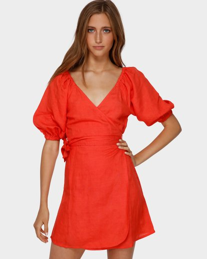 0 DEL RAY WRAP DRESS Orange 6591479 Billabong