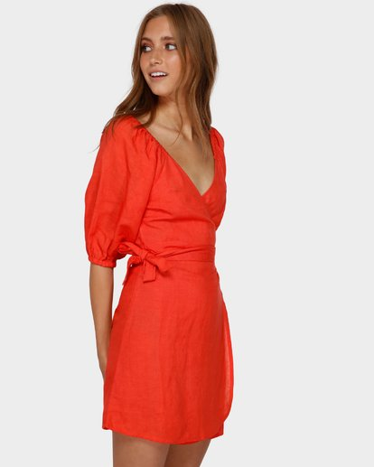 2 DEL RAY WRAP DRESS Orange 6591479 Billabong