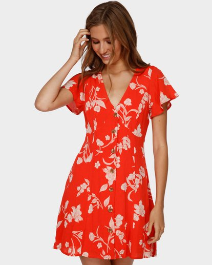 1 MAD LOVE DRESS Orange 6591481 Billabong