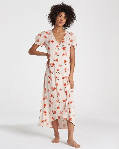0 Floral Fields Dress Beige 6591484X Billabong