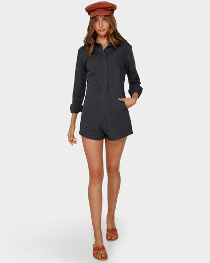 4 Gigi Twill Playsuit Black 6591503 Billabong