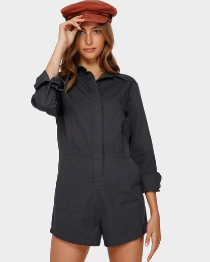 0 Gigi Twill Playsuit Black 6591503 Billabong