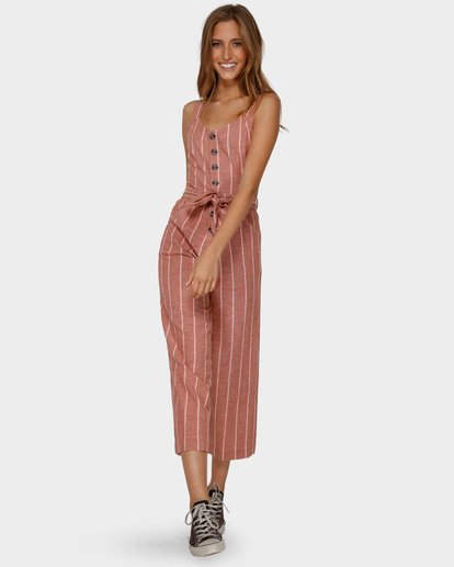 4 Crossfire Stripe Jumpsuit Orange 6591512 Billabong