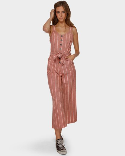 1 Crossfire Stripe Jumpsuit Orange 6591512 Billabong