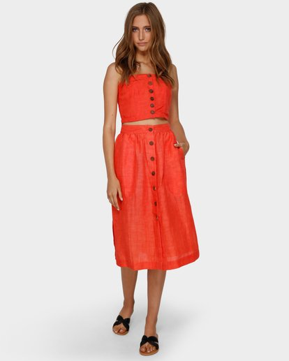 6 ALHAMBRA MIDI SKIRT Orange 6591521 Billabong