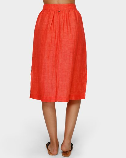 5 ALHAMBRA MIDI SKIRT Orange 6591521 Billabong