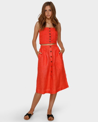 1 ALHAMBRA MIDI SKIRT Orange 6591521 Billabong