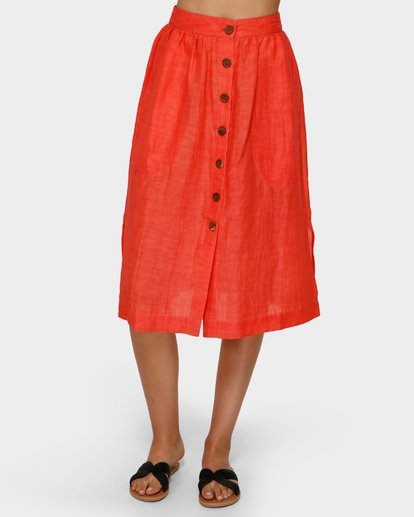 4 ALHAMBRA MIDI SKIRT Orange 6591521 Billabong