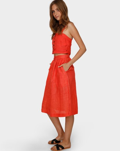 2 ALHAMBRA MIDI SKIRT Orange 6591521 Billabong