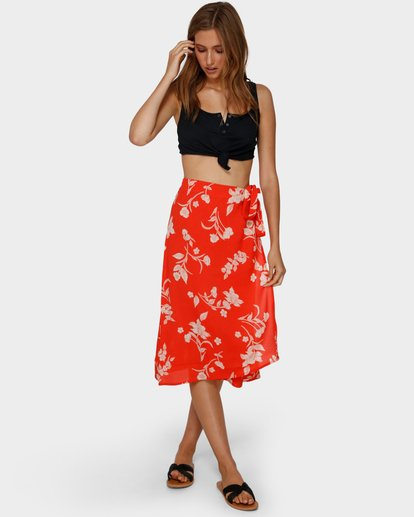 1 MAD LOVE FLORAL SKIRT Orange 6591522 Billabong