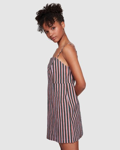 3 LAVENDER LOVE STRIPE DRESS Purple 6591535M Billabong
