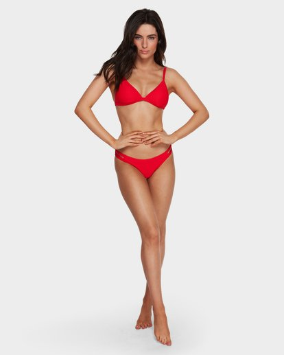 6 Tanlines Fixed Tri Bikini Top Red 6591585 Billabong