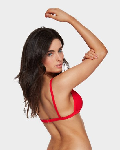2 Tanlines Fixed Tri Bikini Top Red 6591585 Billabong