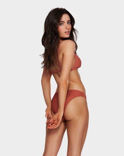 6 Tanlines Fixed Tri Bikini Top Brown 6591585X Billabong