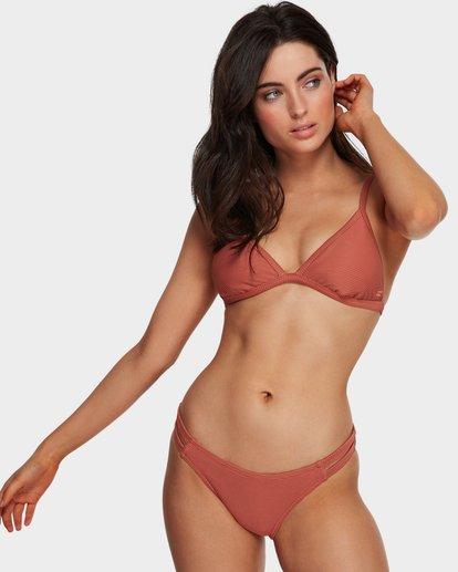 0 Tanlines Fixed Tri Bikini Top Brown 6591585X Billabong
