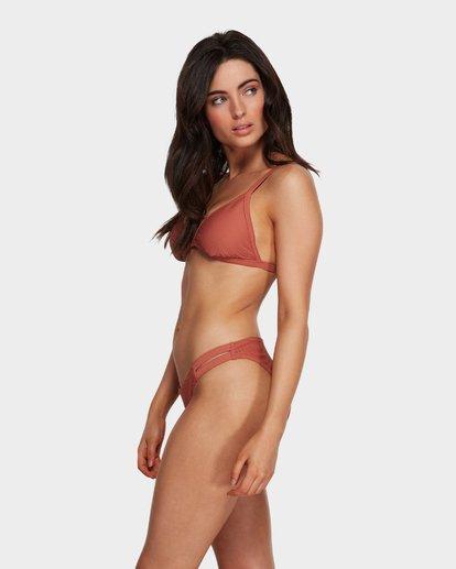 5 Tanlines Fixed Tri Bikini Top Brown 6591585X Billabong
