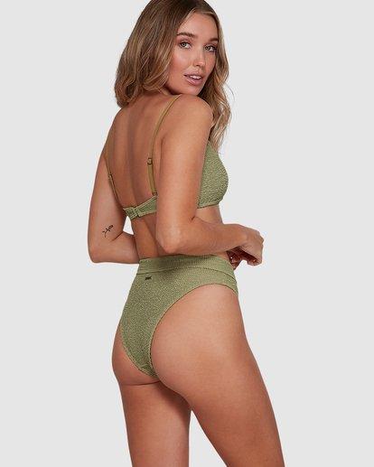 6 Summer High Maui Rider Bikini Bottoms Green 6591609 Billabong