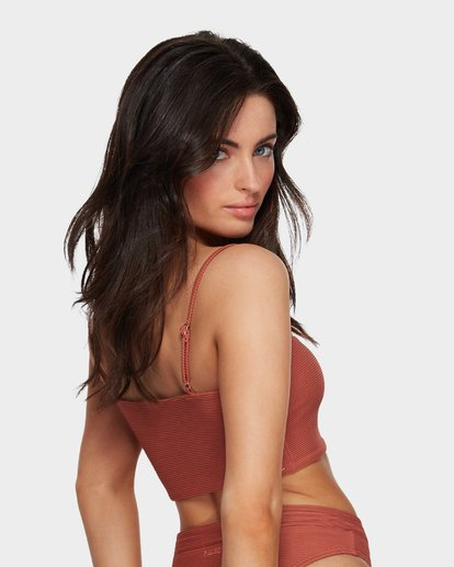 2 TANLINES TANK BIKINI TOP Brown 6591630X Billabong