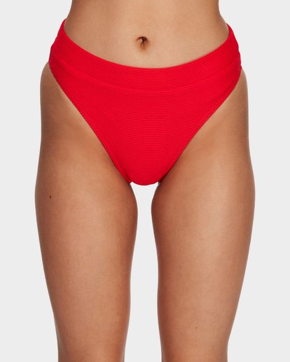 4 Tanlines Maui Rider Bikini Bottom Red 6591631 Billabong