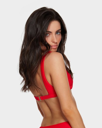 5 TANLINES SQUARE BIKINI TOP Red 6591634 Billabong
