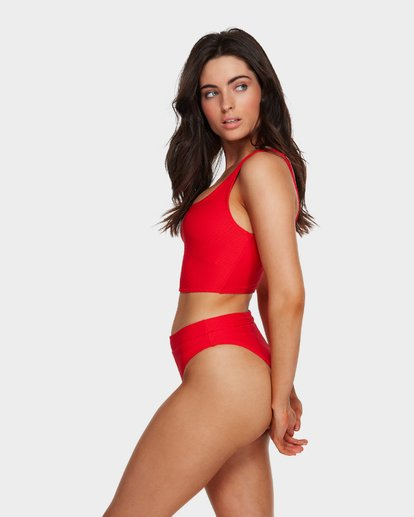 4 Tanlines Crop Bikini Top Red 6591635 Billabong