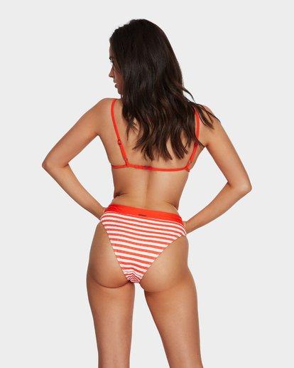 5 Suns Out Stripe Skimpy Tri Bikini Top Orange 6591641 Billabong