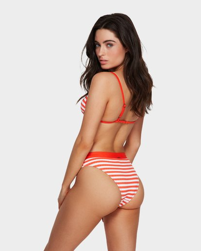 0 Suns Out Stripe Maui Rider Bikini Bottoms Orange 6591644 Billabong