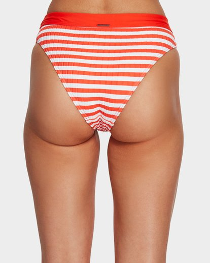 4 Suns Out Stripe Maui Rider Bikini Bottoms Orange 6591644 Billabong