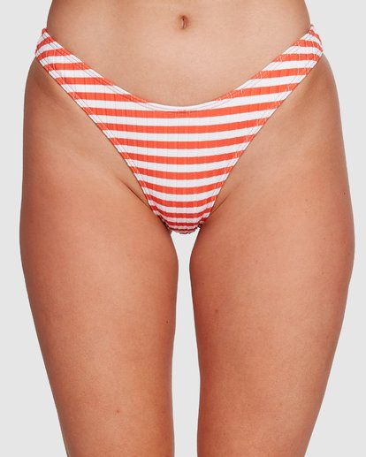 3 Suns Out Stripe Hike Bikini Bottoms Orange 6591646 Billabong