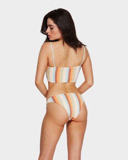 5 RAINBOW STRIPE BANDEAU BIKINI TOP White 6591657 Billabong