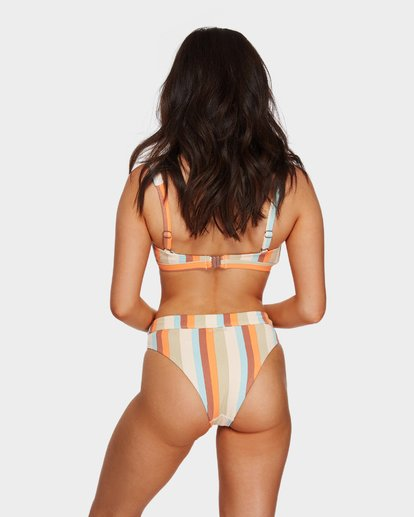 1 RAINBOW STRIPE MAUI RIDER BIKINI BOTTOMS White 6591662 Billabong