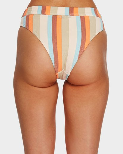 5 RAINBOW STRIPE MAUI RIDER BIKINI BOTTOMS White 6591662 Billabong