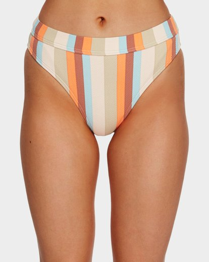 4 RAINBOW STRIPE MAUI RIDER BIKINI BOTTOMS White 6591662 Billabong