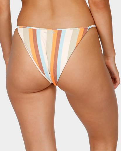 5 RAINBOW STRIPE SKIMPY BIKINI BOTTOMS White 6591663 Billabong
