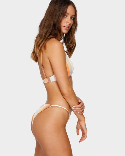 6 RAINBOW STRIPE SKIMPY BIKINI BOTTOMS White 6591663 Billabong