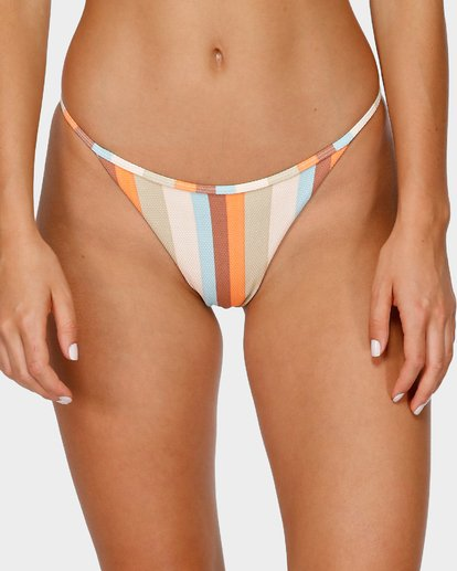 4 RAINBOW STRIPE SKIMPY BIKINI BOTTOMS White 6591663 Billabong