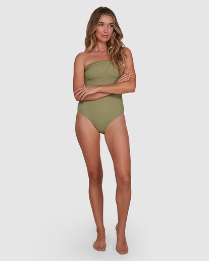 6 SUMMER HIGH BANDEAU ONE PIECE Green 6591698 Billabong