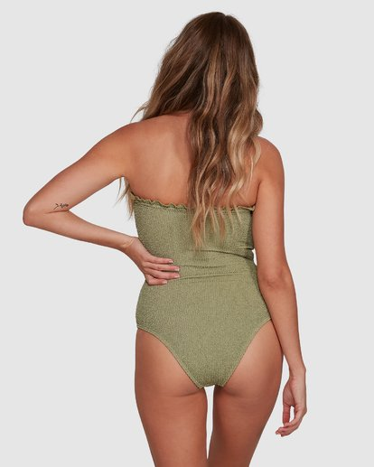 3 SUMMER HIGH BANDEAU ONE PIECE Green 6591698 Billabong